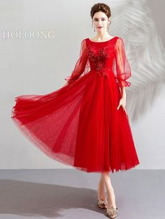 Traditional Half-sleeve Chic / modern Marriage Full-sleeves A-Line Chinese Red Wedding Dresses Wedding Dress Brands, Wedding Dresses For Sale, Wedding Dress Styles, Wedding Colors, Full Sleeves, Sleeve Styles, Marriage, Chinese, Sequins