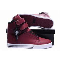 kids supra tk society high tops red leather shoes