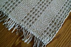 Light handwoven table runner rag rug style by BackPorchCountry