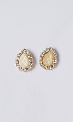 #teardrop #tear #drop #crystal #earring #studs #publik #shoppublik www.shoppublik.com