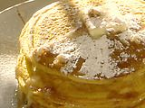 pumpkin spice pancakes, just a couple ingredients to add to regular pancake mix
