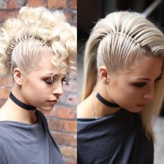 Side Mohawk by SweetHearts Hair 2 Faux Mohawk ha. Side Mohawk by SweetHearts Hair 2 Faux Mohawk hair tutorial now on - Faux Mohawk, Mohawk Updo, Faux Hawk Updo, Long Mohawk, Mohawk With Braids, Girl Mohawk, Ponytail Hairstyles, Pretty Hairstyles, Faux Hawk Hairstyles