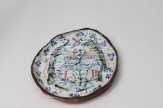 Majolica drawings plate. hand made by Rose de Borman by RosedeBorman on Etsy https://www.etsy.com/listing/224807824/majolica-drawings-plate-hand-made-by