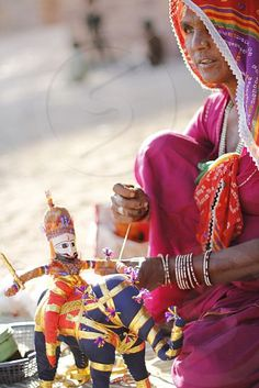 Photo by Shruti Kapoor - The heart of Rajasthani folk puppet show