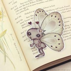 Insect+pocket+bookmark+by+ribonitachocolat+on+Etsy