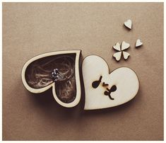 Custom Ring Box Wedding Heart Box Wood Engagement от AylilAntoniu