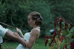 Daughters 1940's Vintage Style Wedding: She had so much fun with those suspenders;) lol