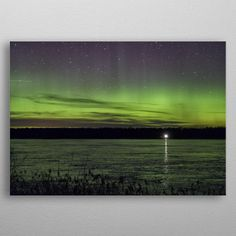 Northern light above water by Rytis Sapežinskas Weekender Tote, Tote Bag, Northern Lights, Posters, Metal, Water, Travel, Gripe Water, Viajes