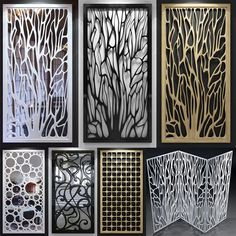 decorative wood or metal screens Laser Cut Screens, Laser Cut Panels, Laser Cut Metal, Metal Panels, Decorative Screens, Decorative Objects, Cnc Cutting Design, Plafond Design, Partition Design