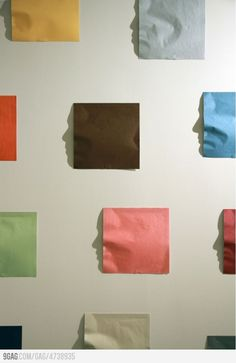 Post-it note face shadow art thingy :P