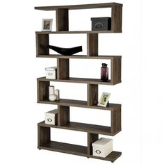Estantería diseño Zig Zag de salón económica. Puedes comprar tu estantería de zig zag barata en nuestra tienda muebles online.