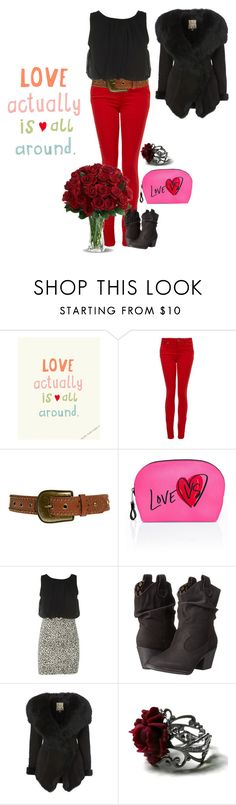 """valentines day"" by izze93 on Polyvore featuring Paige Denim, New Look, Victoria's Secret, Rocket Dog and Biba"