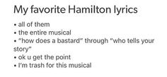 Hamilton Trash over here // now I literally dont know anyone who hasnt heard of hamilton, and most of my frens are hamiltrash :')