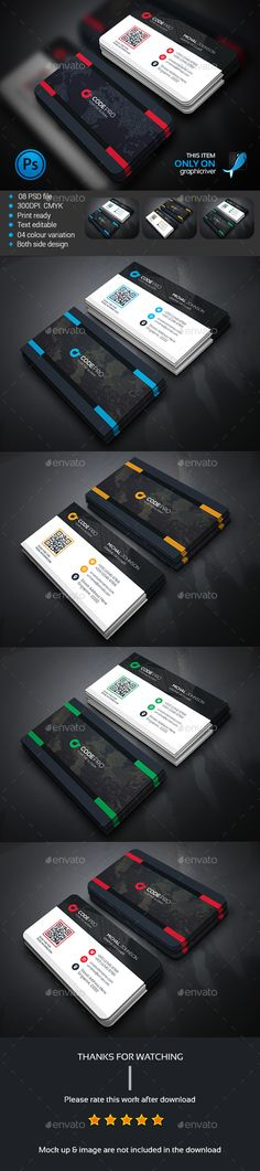 Soft Corporate Business Card — Photoshop PSD #magagine #modern design • Available here → https://graphicriver.net/item/soft-corporate-business-card/13556859?ref=pxcr