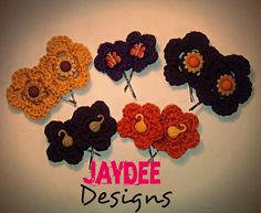 10 Pack Assorted Flower Bobby Pin Hair Accessories. $15.00, via Etsy.