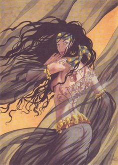 Djinn: Miralls and Dufaux comics Fantasy Rpg, Dark Fantasy Art, Fantasy Girl, Character Inspiration, Character Art, Caricatures, Sword And Sorcery, Art Graphique, Comic Artist