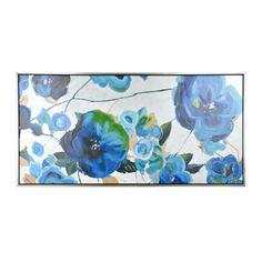 Variegated Blues Framed Canvas Art Print | Kirklands
