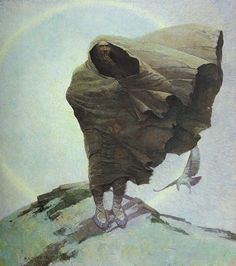 Winter (Death) by NC Wyeth, Oil on canvas Jamie Wyeth, Andrew Wyeth, Nc Wyeth, Howard Pyle, Oil On Canvas, Canvas Prints, American Artists, Les Oeuvres, Painting & Drawing