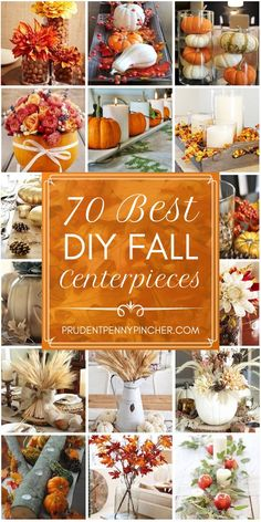 70 Best DIY Fall Centerpieces Bring fall into your home with these beautiful fall centerpieces. From pumpkin vases to wheat bundle centerpieces, there are plenty of ideas to choose Best DIY Fall Centerpieces Thanksgiving Crafts, Fall Crafts, Decor Crafts, Thanksgiving Table, Fall Table Centerpieces, Thanksgiving Centerpieces, Fall Decorations, Seasonal Decor, Fall Wedding Table Decor