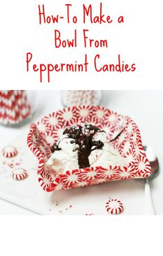 How to Make a Bowl from Peppermint Candies