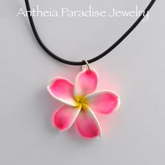 Hawaiian Jewelry  Polymer Clay Plumeria 36mm by AntheiaJewelry, $9.00