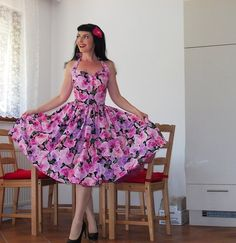 Pinup dress 'Orchid night' stunning by PinupDollCollection on Etsy