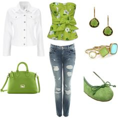 Spring Greens, created by kristi-lin on Polyvore