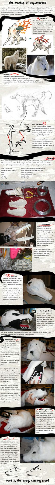 Making of Puppeterasu Pt 1 by Risachantag.deviantart.com on @deviantART