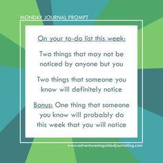 Monday Journal Prompt