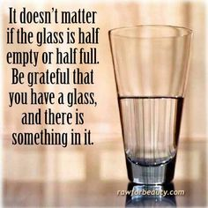 This was always my philosophy:  Who cares about the two halves... be thankful you have water!!!