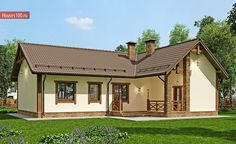 Проект дома B-123 - Проекты домов и коттеджей в Москве Gazebo, Outdoor Structures, Cabin, Mansions, House Styles, Home Decor, Manor Houses, Cabins, Villas