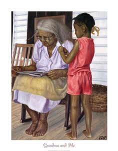 Grandma Katie Carr and me. She only wanted her scalped greased with Dixie Peach, parted down the middle with a plait on each side. I miss her.....she always had that quiet laugh till tears came each cheeks. She WAS the neighborhood watch.