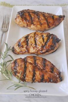 This spicy honey glazed chicken is so easy to prepare and tastes delicious. Can cook it on the grill or in the oven.