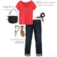 5 Stay at Home Mom Style Essentials - darker boyfriend denim is cute or do this with skinny ankle rolled pants.
