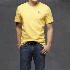 Guys Heritage V-Neck Ts - Yellow #BulldogFactory #SharpDressedMan