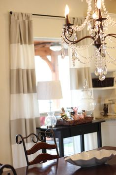 I had no idea you could paint curtains.  I want to make these for Micah's room.