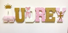 Pink and gold Ballet/ Ballerina Letters by ShopLiamSloane on Etsy