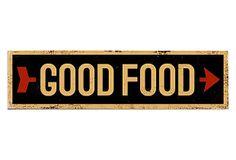 "ArteHouse | Good Food Wood Sign | 6"" x 22"" | 45.00 retail"