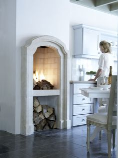 #Fireplace in the #kitchen
