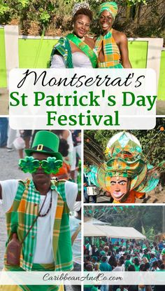 Find out about the week-long Montserrat Saint Patrick's Festival in the Caribbean that is increasing in popularity and a great place to watch a Saint Patrick's Day Parade. Travel Couple, Family Travel, Vacation Travel, Puerto Rico, Cuba, Les Bahamas, St Patricks Day Parade, Caribbean Carnival, Carnival Festival
