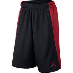 Nike Jordan Baseline Short Mens 642321-011 Black Red Basketball Shorts Size 2XL