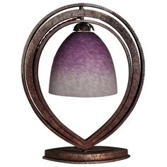 French Art Deco Period Fer Forge and Glass Table Lamp   From a unique collection of antique and modern table lamps at https://www.1stdibs.com/furniture/lighting/table-lamps/