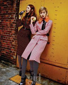 Kang Soyoung and Choi Ara by Jung Donghyun for Voguegirl Korea Sept 2013