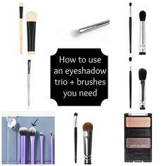 How to use an eyeshadow trio