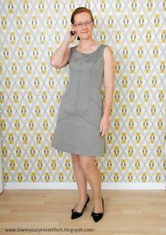 Burda 6/2016 #104 sheath dress in grey www.loweryourpresserfoot.blogspot.com