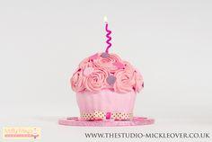 Pink Cupcake Smash Cake