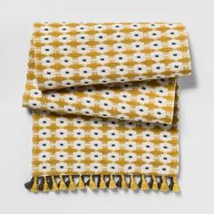 Yellow Chunky Weave Table Runner - Project 62™