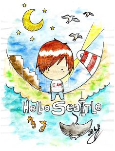 Hello Seattle - Owl City. This is just about the cutest thing ever.