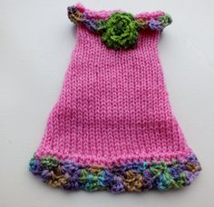 Dog Sweater Hand Knit XX Small 8.5 inches long  TRose by jenya2, $21.99