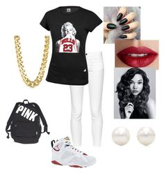 """Cute outfit for school!!"" by parislanee on Polyvore featuring French Connection, Retrò, TheBalm, CC SKYE, Victoria's Secret and Tiffany & Co."